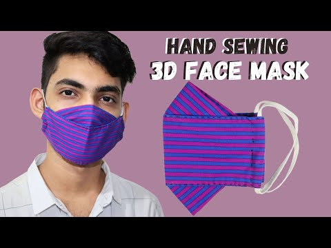 Hand Sewing 3D Face Mask | DIY Face Mask