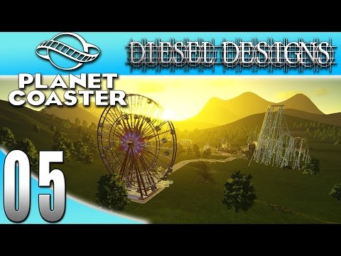 Planet Coaster : EP5: Ferris Wheel & Plans for the Park! (Theme Park Simulator 1080p)