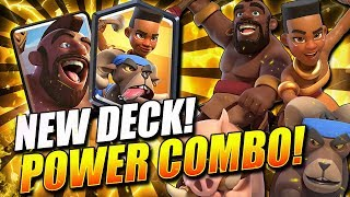 *NEW!* POWER TROPHY COMBO DOMINATES LADDER!! DOUBLE RIDER OP! - Clash Royale
