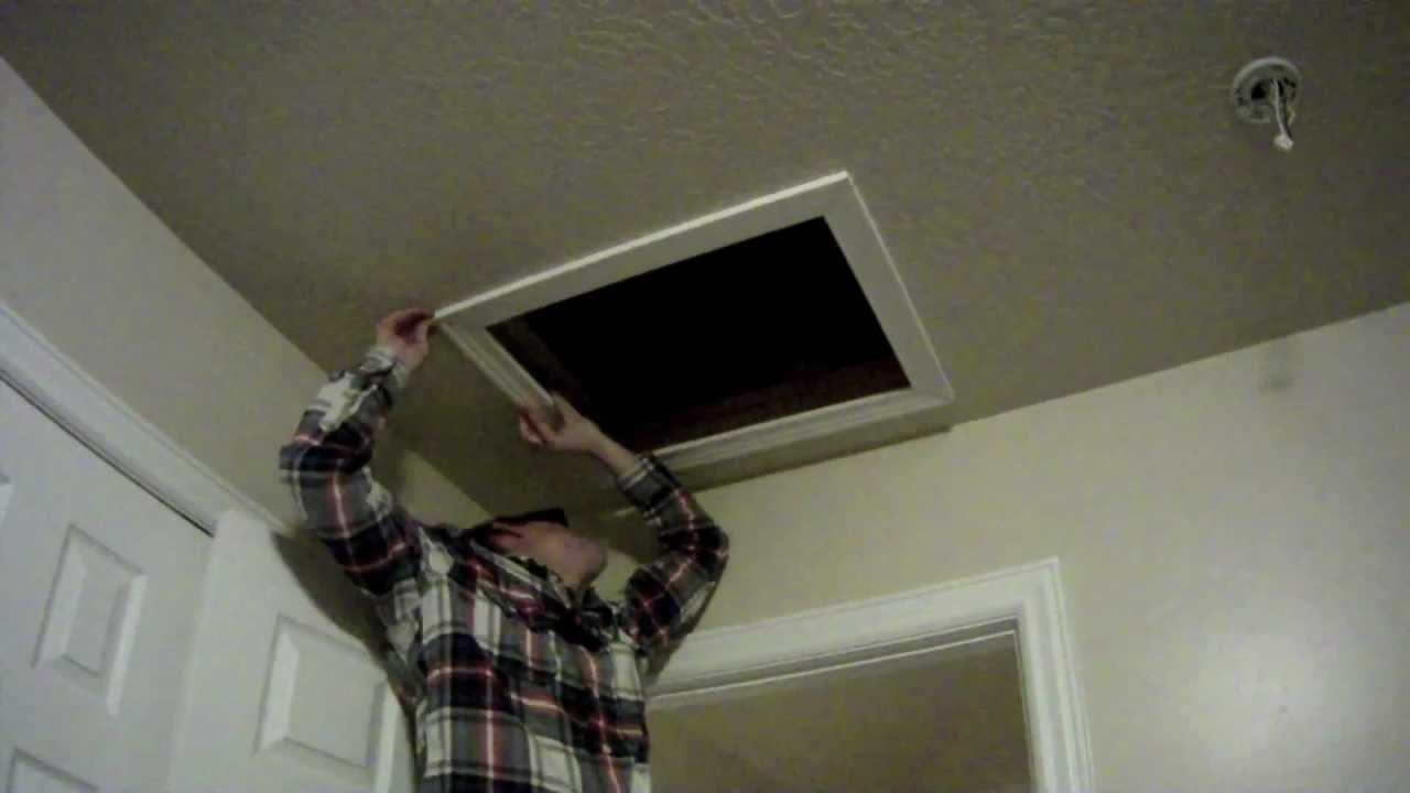 how to install an attic access door for insulation  youtube -