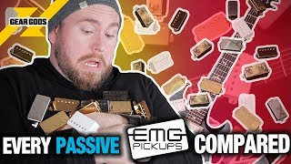 The ULTIMATE EMG Passive Pickup Shootout - EVERY Passive EMG Compared! | GEAR GODS