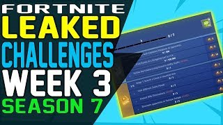 Fortnite CHALLENGES WEEK 3 SEASON 7 LEAKED, Legendary Weapon Eliminations