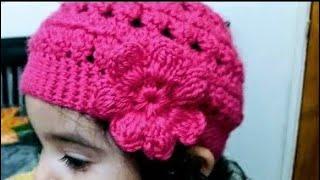Como tejer Gorro en crochet para niñas👭