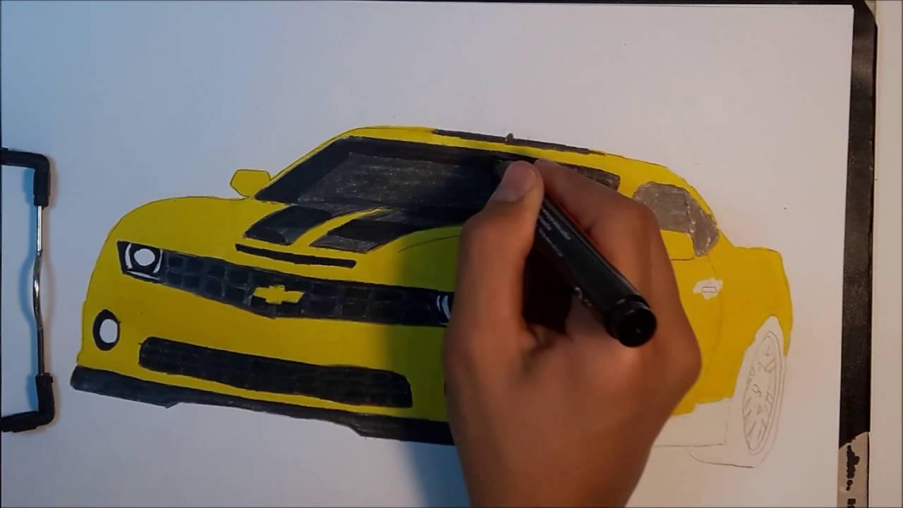 Araba Çizimleri #5 - Chevrolet Camaro Çizimi - YouTube