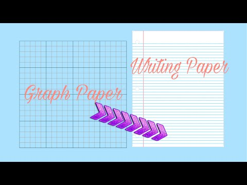 DIY: Turning graph paper into writing paper