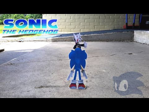 A Paper sonic the hedgehog stopmotion VS Infinite P2