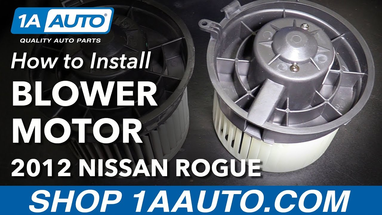 How to Replace Heater Blower Motor 08-13 Nissan Rogue