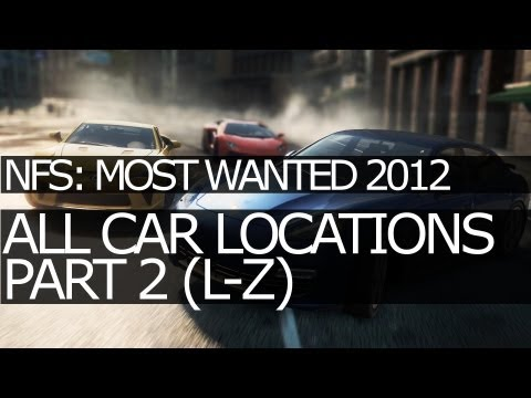 need for speed most wanted 2012 all car locations lz all jack spots part 2 video. Black Bedroom Furniture Sets. Home Design Ideas