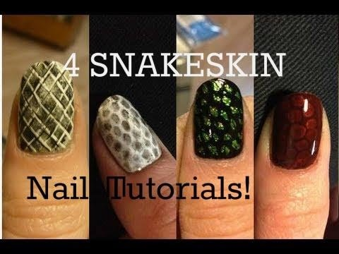 Easy snakeskin nail art – chickettes natural nail studio & boutique.