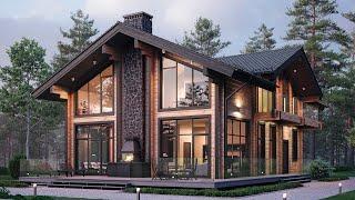 Проект дома в скандинавском стиле. Дом с террасой, балконом и вторым светом. Ремстройсервис М-397