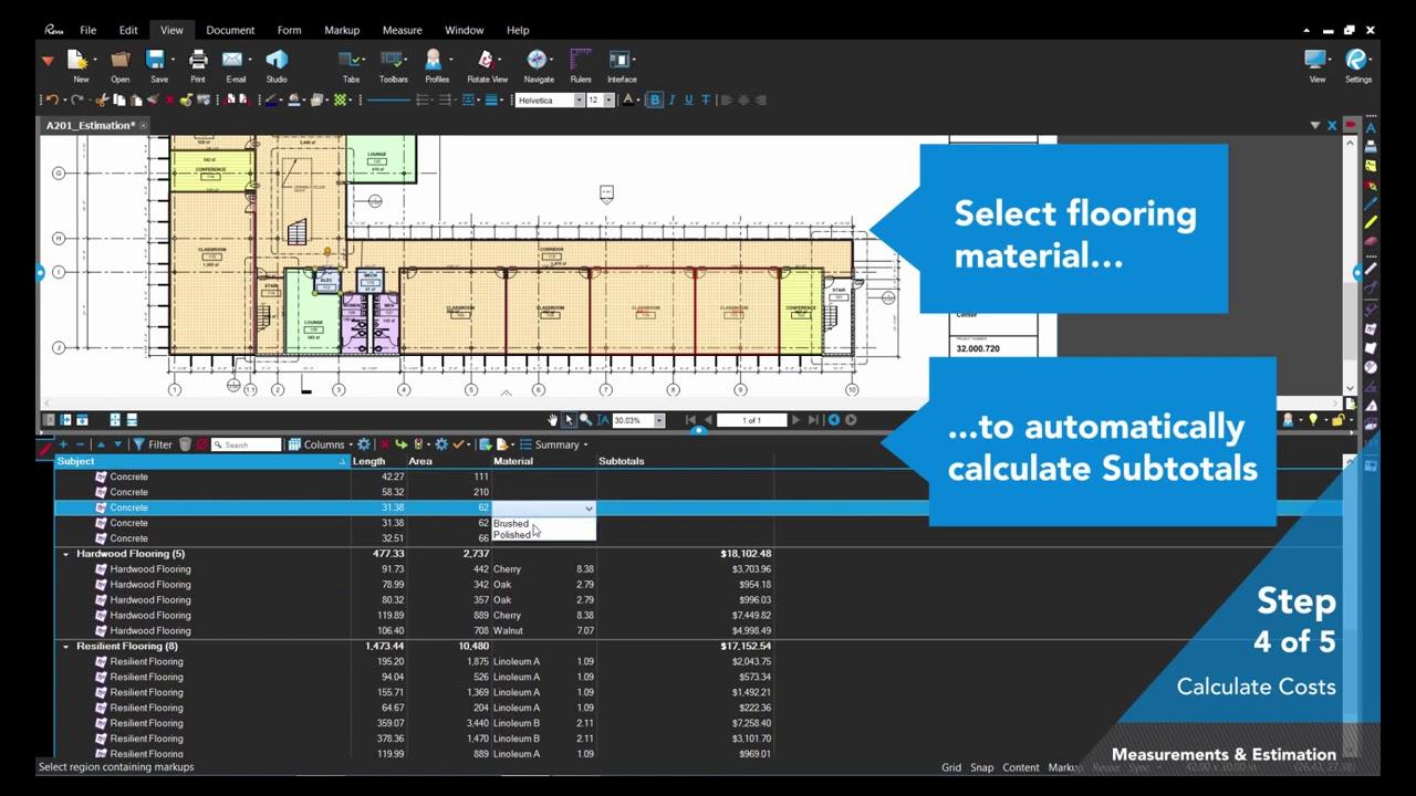 Bluebeam for Quantity Surveyors | RDS BLUEBEAM
