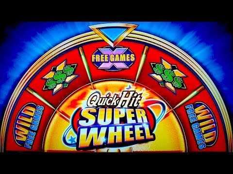 Quick Hit Super Wheel Slot - NICE SESSION, ALL BONUS FEATURES! - 동영상