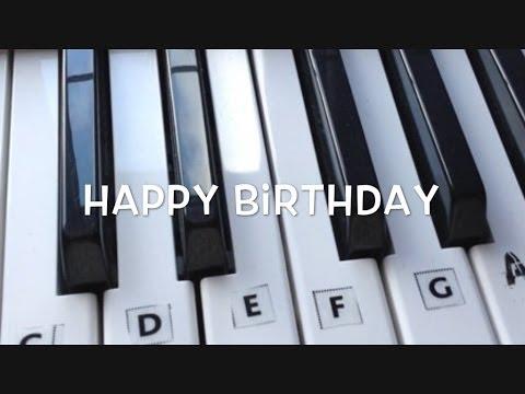 Happy Birthday on the Keyboard / Piano