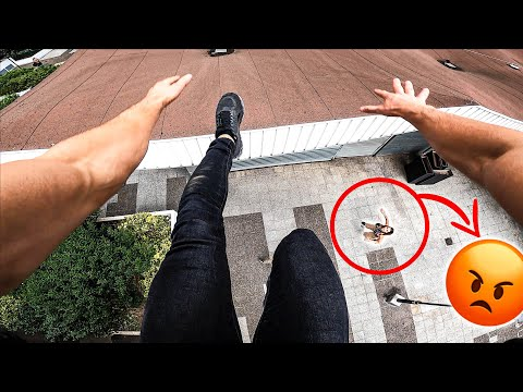 ESCAPING ANGRY GIRLFRIEND (Epic Parkour Chase in Paris)