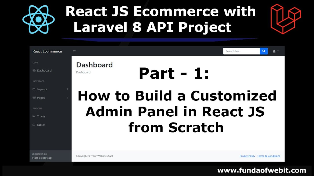 ReactJS Ecommerce with Laravel 8 API