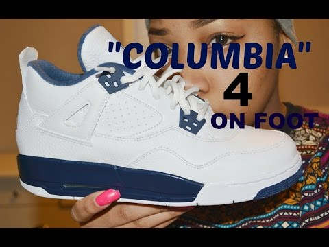 Air Jordan 2015 Columbia 4 GS Review + On Foot