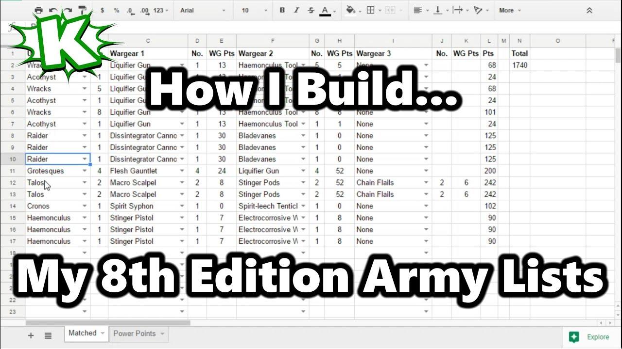 warhammer 40k fillable roster