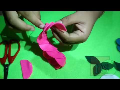 cara-membuat-bros-kerudung-motif-bunga-dari-kain-flanel-murah-meriah