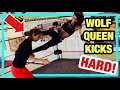 WOLF QUEEN KICKS HARD! | Women's Pro Wrestling Training!