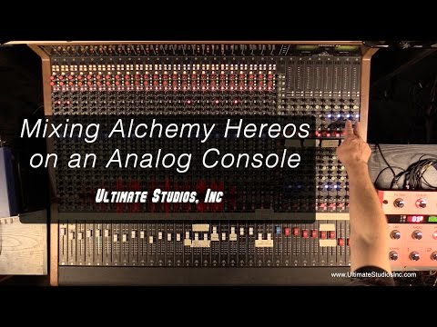 Mixing on an Analog Console. Charlie Waymire: Recording Ninja Workshops