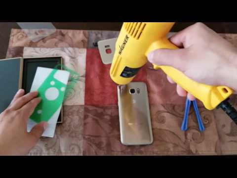 How to fix the back glass cover Samsung Galaxy S7 edge