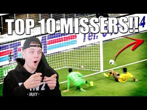 TOP 10 GROOTSTE VOETBAL MISSERS OOIT!!