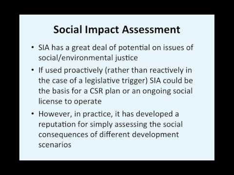 Week 5 Social Impact Assessment recording