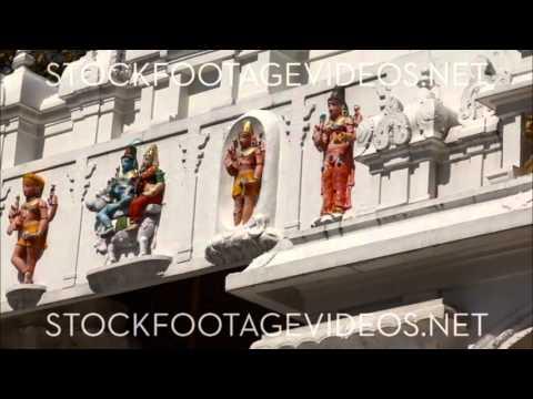 Hindu Statues Along Front Wall Of Sivananda Ashram