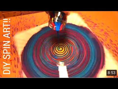 Fluid Painting Tutorial for Beginners!! How to Make a Fluid Spin Painting! Acrylic Pouring MUST SEE!