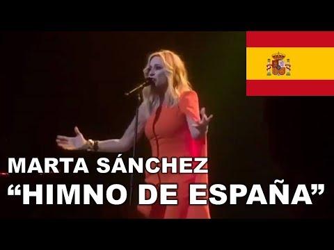 Marta Sánchez - Himno de España (CON LETRA SUBTITULADA)