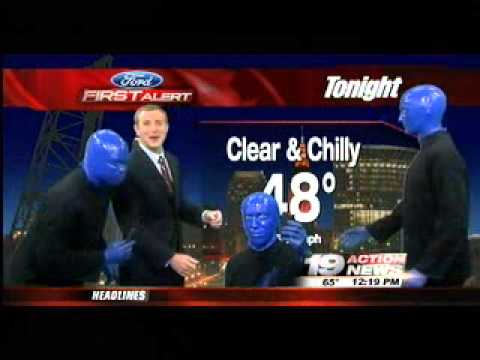 Blue Man Group forecasts the weather on 19 ActionNews
