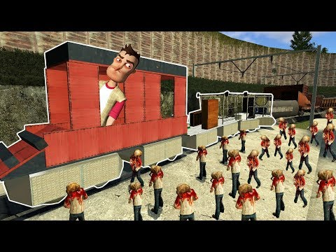 Gmod - ZOMBIE SURVIVAL & BUILDING A TRAIN! | Garry's Mod Gameplay | Gmod Gameplay Funny Moments