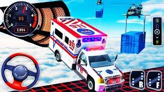 Ambulans Dublör Van Yarışı - İmkansız Parçalar Araba Sürüş Simülatörü - Android GamePlay