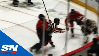 Alex Ovechkin Drills Referee While Making Play Down Low