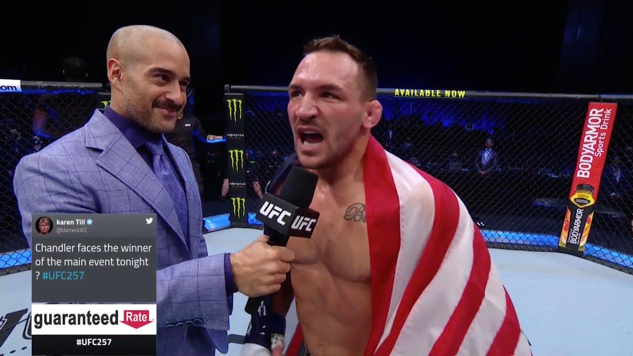 UFC 257: Майкл Чендлер - Слова после боя