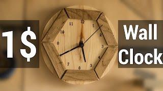 HowTo#3 Making 1$ Wooden Wall Clock  | Как сделать настенные деревянные часы ценой в 1$(В этом видео я покажу, как сделать очень простые настенные часы из подручного хлама с вложениями в 1$ --------------..., 2015-08-31T05:51:47.000Z)