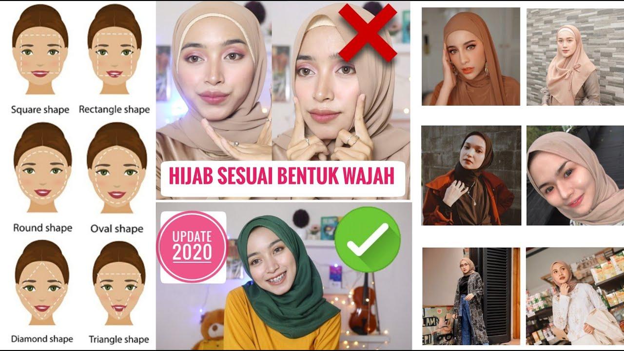 Tips Memakai Hijab Sesuai Bentuk Wajah Update 2020 Wajah Bulat Kotak Lonjong Segitiga Oval Youtube