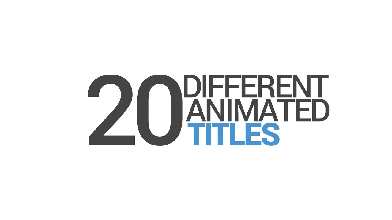 Free After Effects Intro Template #536 : Animated Titles for After Effects Template
