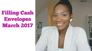 Filling My Cash Envelopes | March 2017 | Journey to Financial Freedom | FrugalChicLife