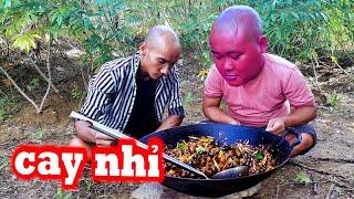 Ra Đồng Bắt Ốc Bưu Xào Sả Ớt Siêu Cay | Sơn Dược Vlogs