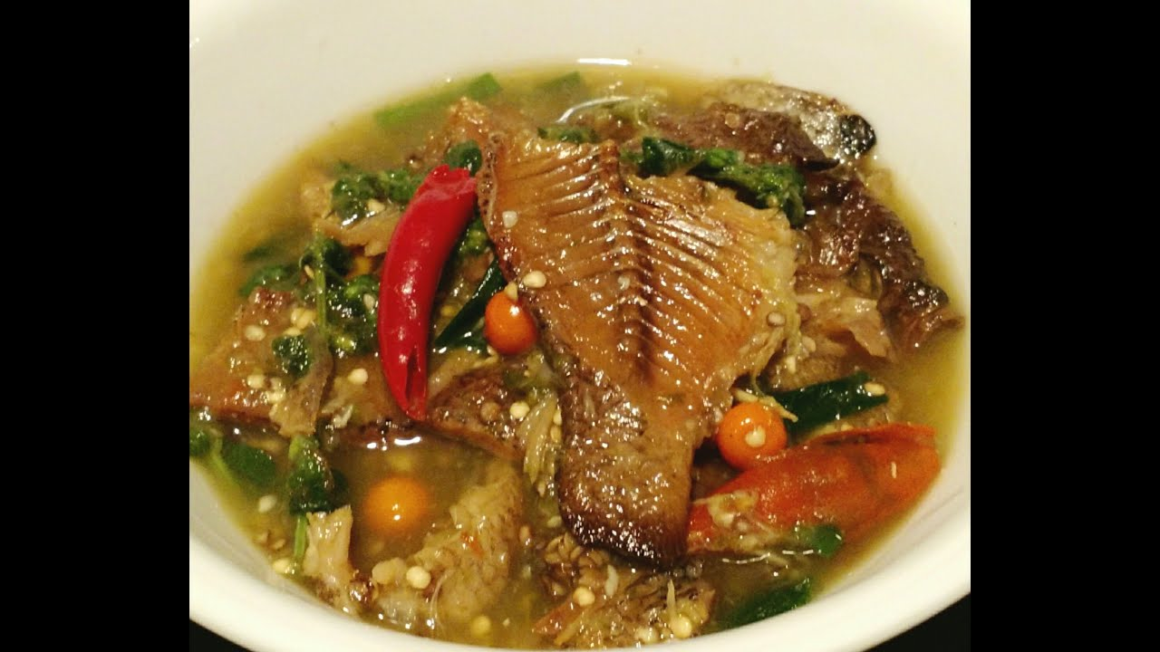 Dried fish stew with thai eggplant youtube for How to make fish stew