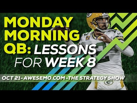 Monday Morning QB: Lessons For Week 8 - NFL DFS Strategy - Yahoo DraftKings FanDuel FantasyDraft