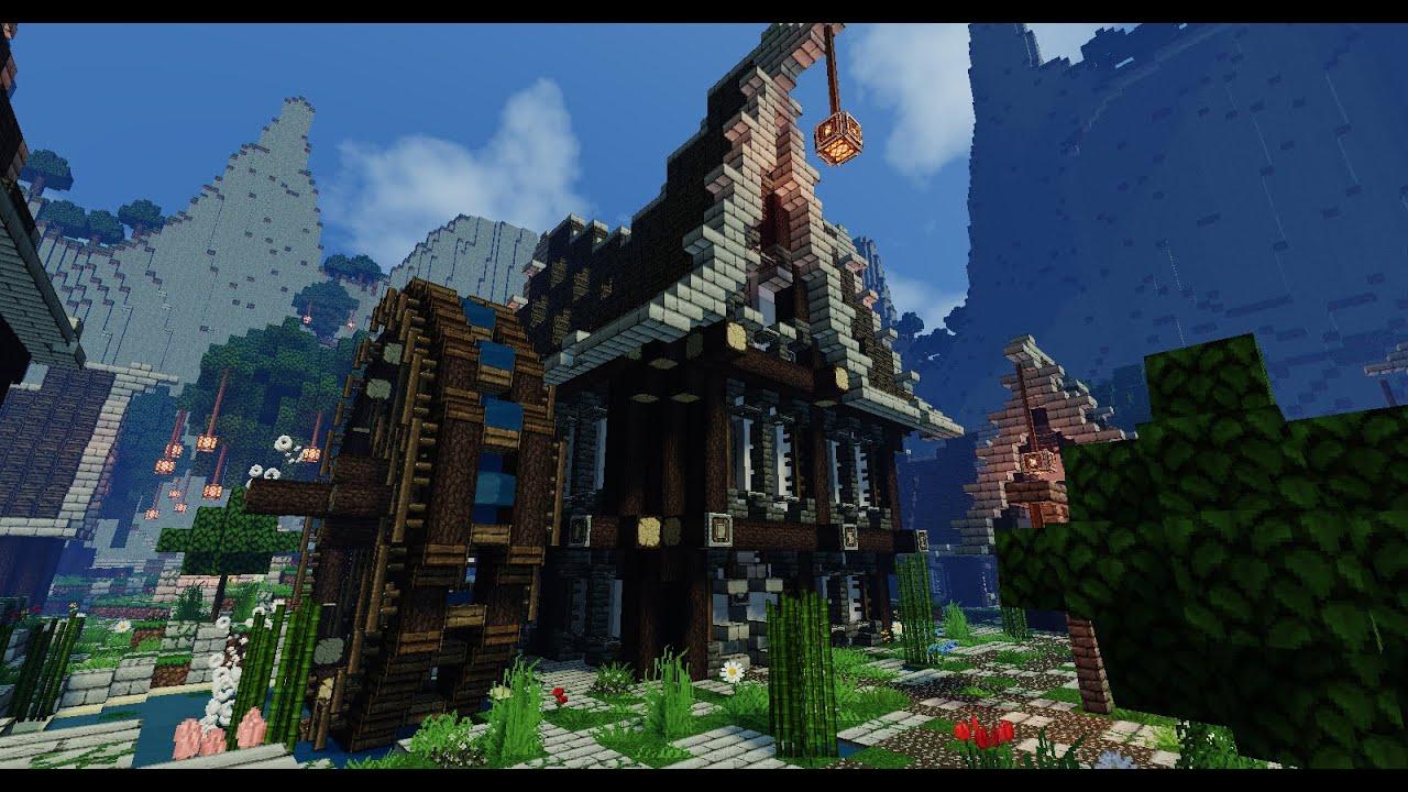 Tuto minecraft comment faire une maison medieval steampunk partie 2 3 youtube for Construction de maison sur minecraft