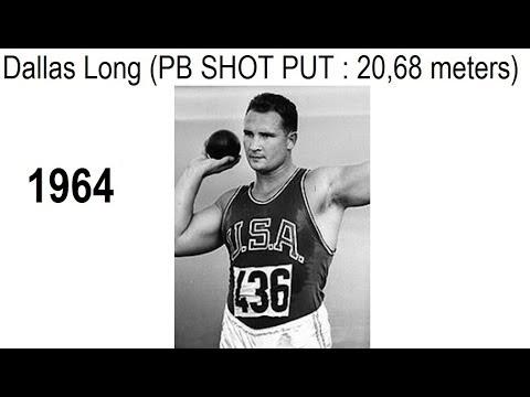 Dallas Long, Personal Bests: SHOT PUT – 67-10 (20.68 meters) 1964.