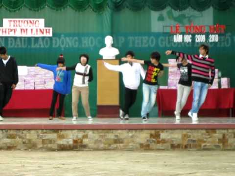 THPT Di Linh 12A2 | 24/05/2010 Le Tong Ket nhay hip hop