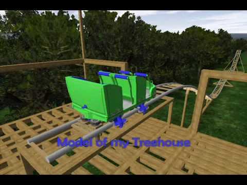 backyard homemade pvc roller coaster thrillium  animation