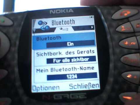 Nokia NGage über Bluetooth mit Internet verbinden