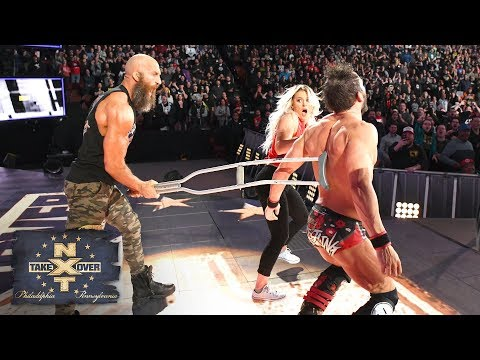Tommaso Ciampa attacks Johnny Gargano with a crutch from behind: NXT TakeOver: Philadelphia