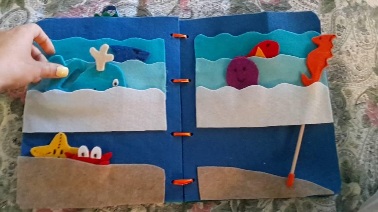 Molto Quietbook libro sensoriale mare pesci - YouTube PV15