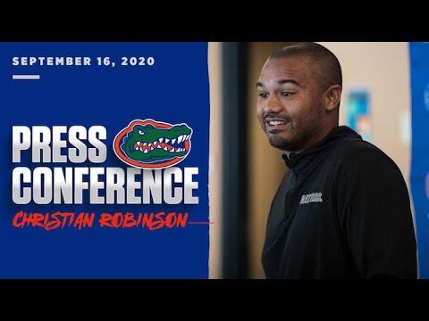 Florida Football: Christian Robinson Press Conference 9-16-20
